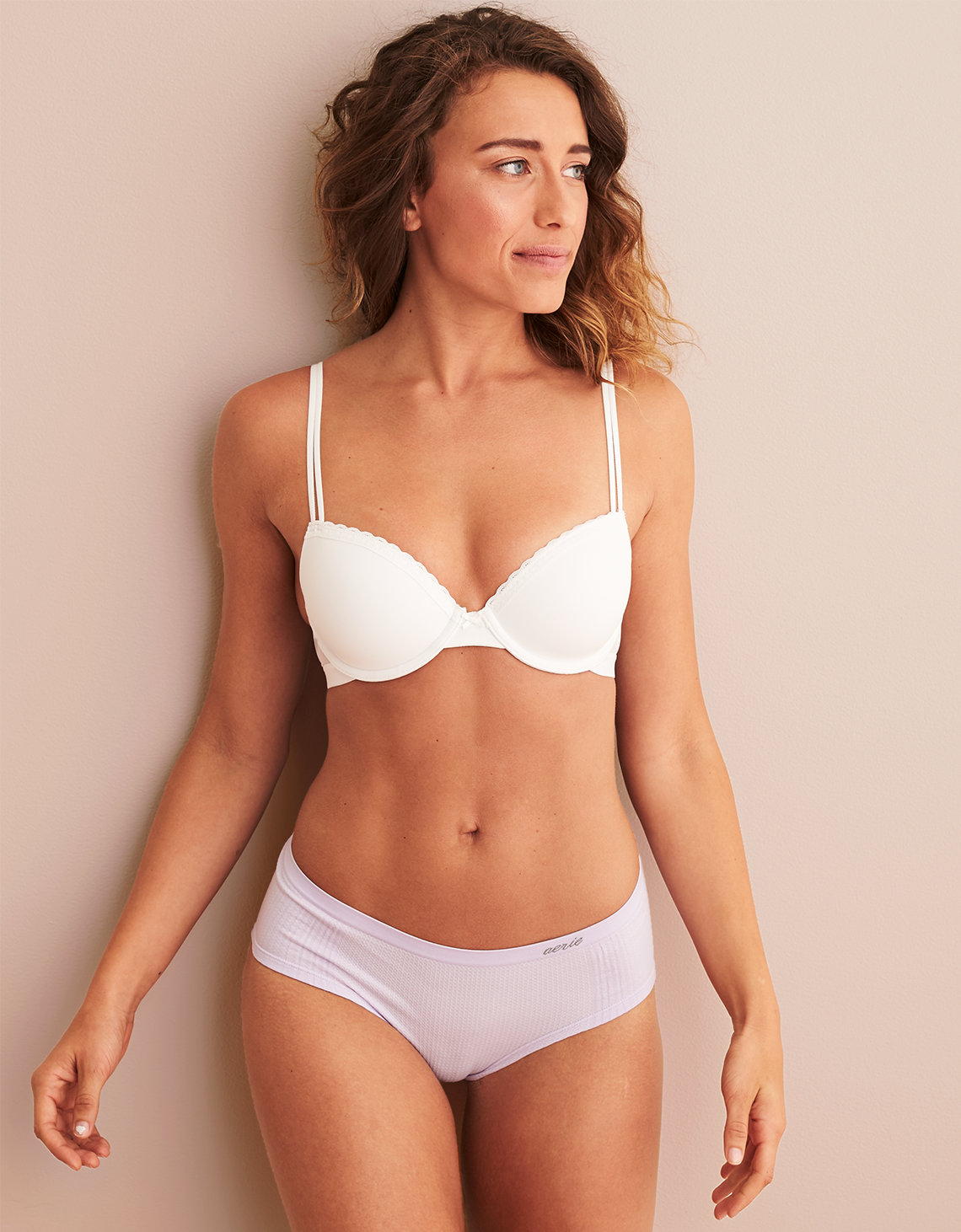 1793187d5b3bd Aerie Real Happy Demi Lightly Lined Bra. Placeholder image. Product Image