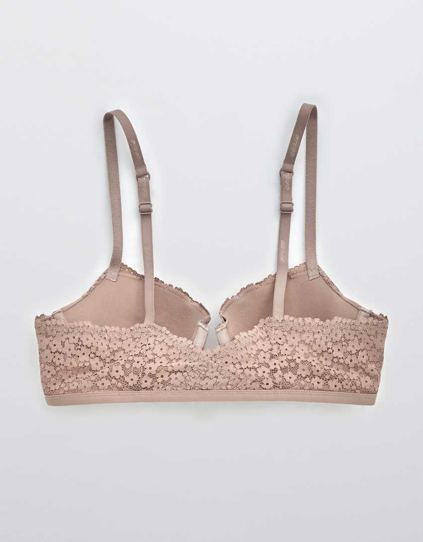 Aerie Real Happy Demi Lightly Lined Lace Bra
