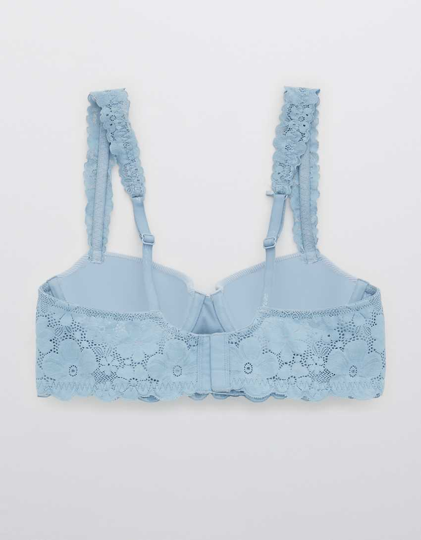 Aerie Real Happy Demi Lightly Lined Retro Lace Bra