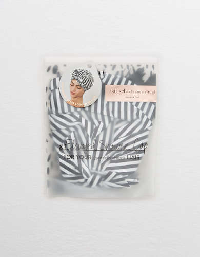 Kitsch Striped Shower Cap