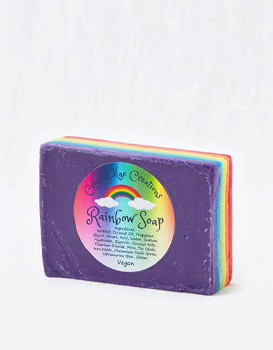 Crystal Mae Creations Rainbow Layer Soap -
