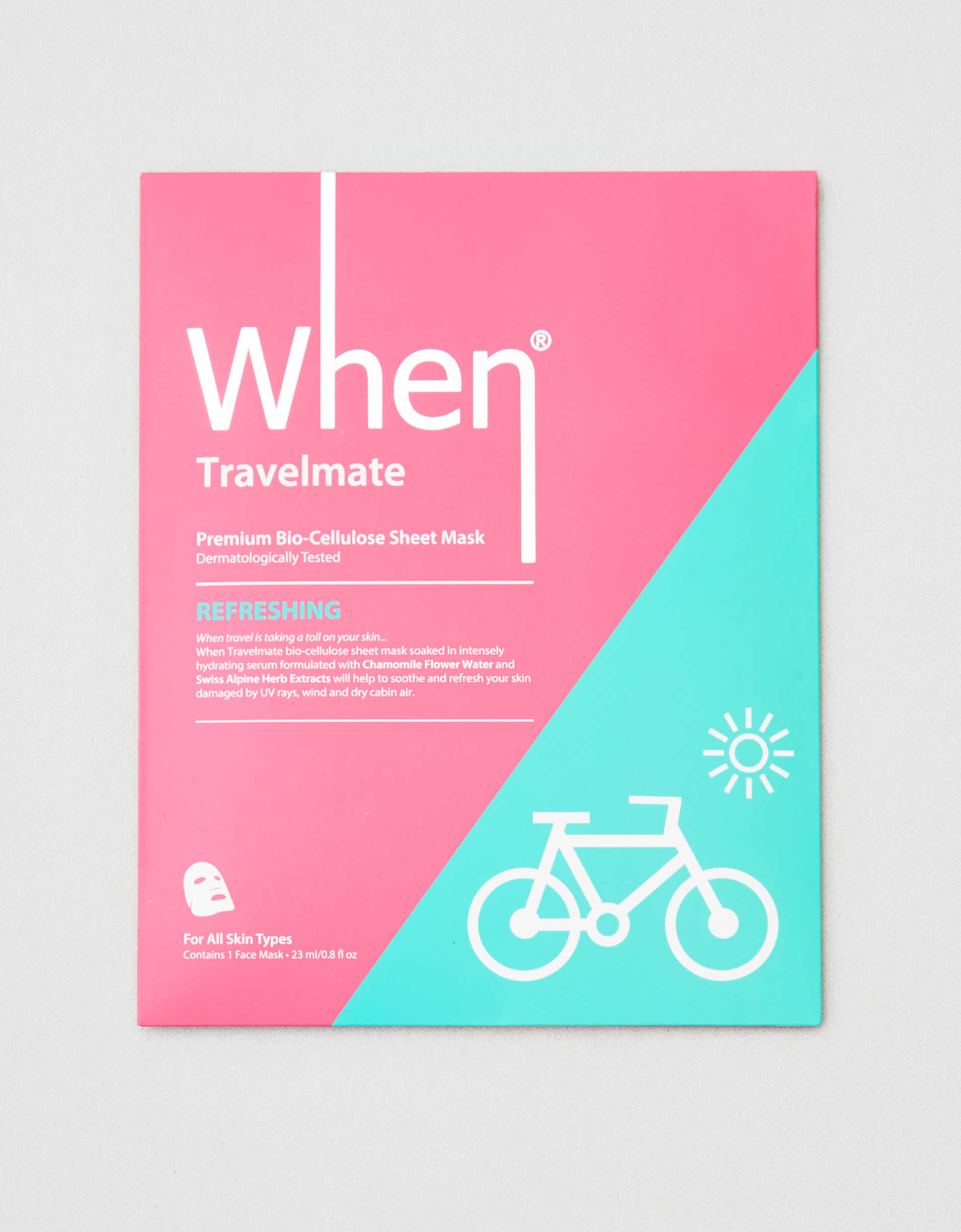 WHEN Travelmate Face Mask