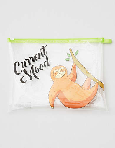 AEO Sloth Cosmetic Pouch