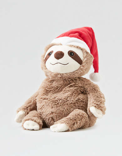 Santa Sloth Warmie Stuffed Animal