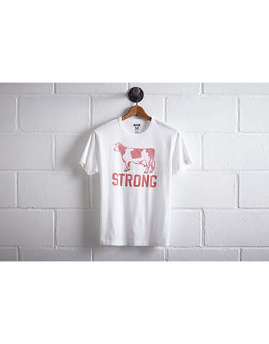 Tailgate Men's Wisconsin Cow Strong T-Shirt -