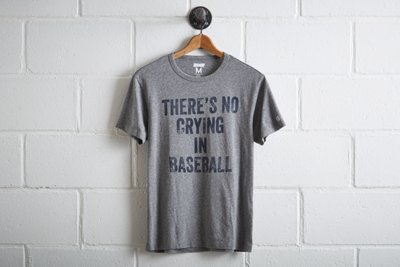 Tailgate Men's No Crying In Baseball T-Shirt