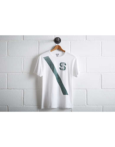 Tailgate Men's MSU Spartans Stripe T-Shirt - Free Returns