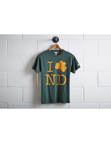 Tailgate Men's Notre Dame I Love ND T-Shirt - Free Returns