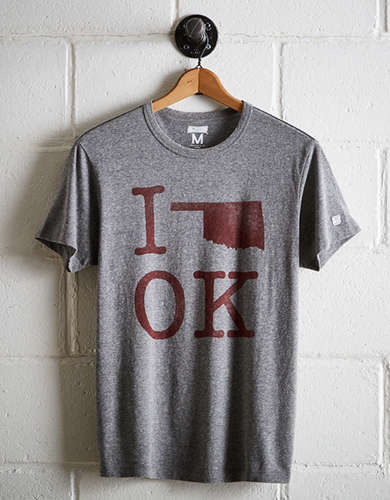 Tailgate Men's Oklahoma I Love OK T-Shirt - Free Returns