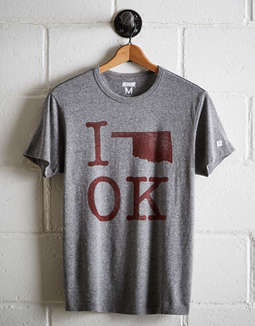 Tailgate Men's Oklahoma I Love OK T-Shirt