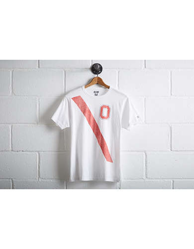Tailgate Men's Ohio State Buckeyes Stripe T-Shirt - Free Returns