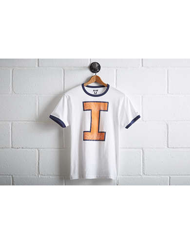 Tailgate Illinois Fighting Illini Ringer T-Shirt -