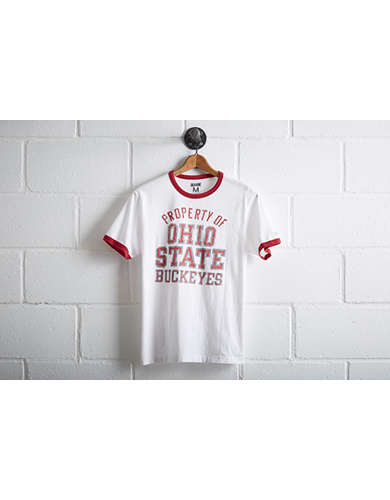 Tailgate Men's Ohio State Ringer T-Shirt - Free Returns
