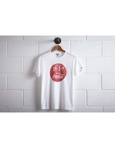 Tailgate Men's Japanese Coca-Cola T-Shirt - Free Returns