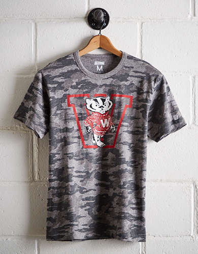 Tailgate Men's Camo Wisconsin T-Shirt - Free Returns
