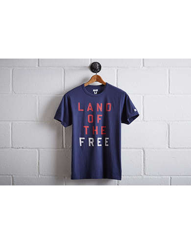 Tailgate Men's Land of the Free T-Shirt - Free Returns