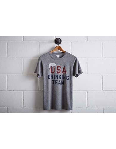 Tailgate Men's USA Drinking Team T-Shirt - Free Returns