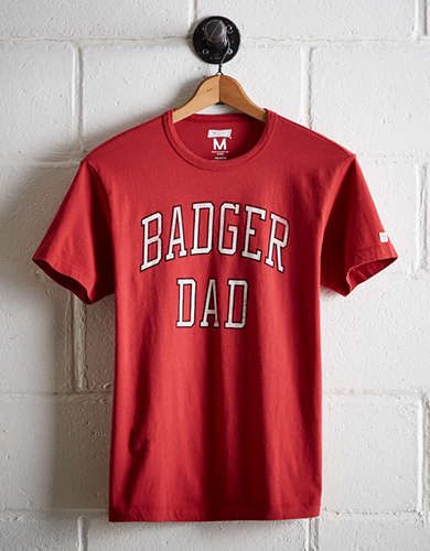 Tailgate Men's Badgers Dad T-Shirt - Free Returns