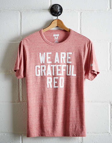 Tailgate Men's Wisconsin Grateful Red T-Shirt - Free Returns