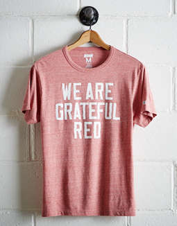 Tailgate Men's Wisconsin Grateful Red T-Shirt