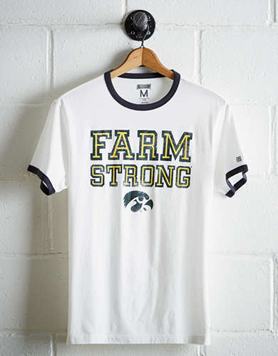 Tailgate Men's Iowa Farm Strong Ringer T-Shirt - Free Returns