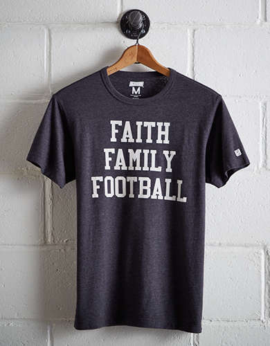 Tailgate Men's Faith Family Football T-Shirt - Buy One Get One 50% Off