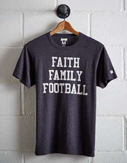 Tailgate Men's Faith Family Football T-Shirt