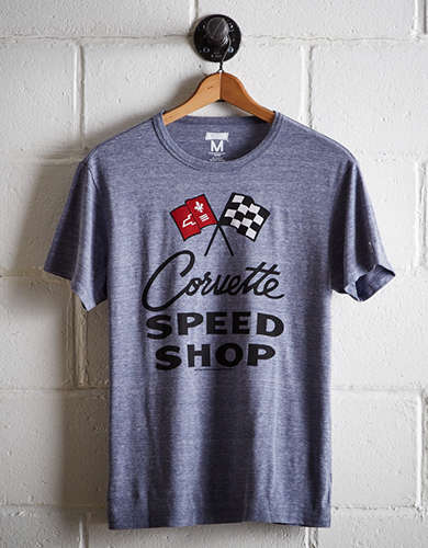 Tailgate Men's Corvette Speed Shop T-Shirt - Free Shipping + Free Returns