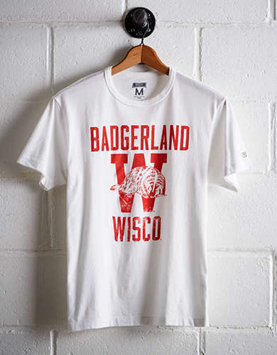 Tailgate Men's Wisconsin Badgerland T-Shirt - Free Returns