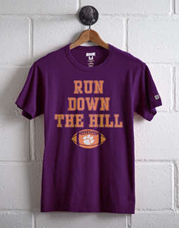 Tailgate Men's Clemson Run Down The Hill T-Shirt