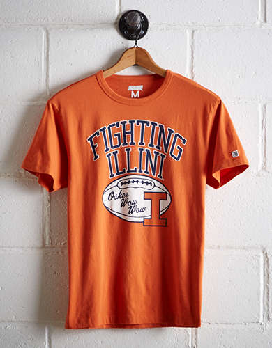 Tailgate Men's University of Illinois T-Shirt - Free Returns