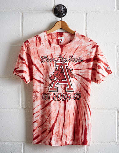 Tailgate Men's Arkansas Tie-Dye T-Shirt - Free Returns
