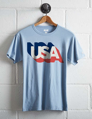 Tailgate Men's Retro USA T-Shirt -