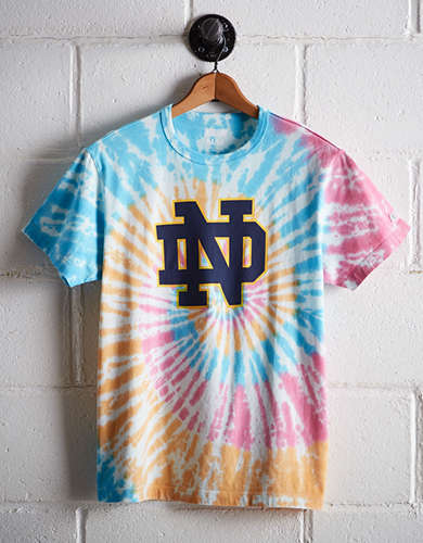 Tailgate Men's Notre Dame Tie-Dye T-Shirt - Free Returns