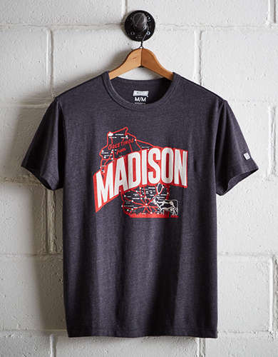 Tailgate Men's Madison Wisconsin T-Shirt - Free Returns