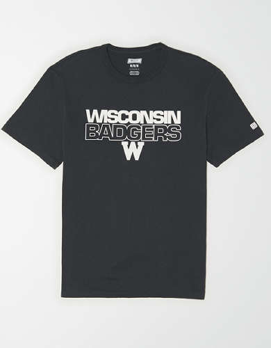 Tailgate Men's Wisconsin Badgers Reflective Graphic T-Shirt