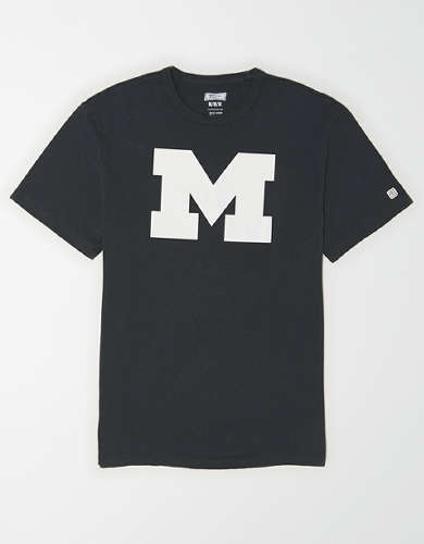 Tailgate Men's Michigan Wolverines Reflective Graphic T-Shirt