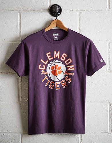 Tailgate Men's Clemson Tigers Basketball T-Shirt - Free Returns