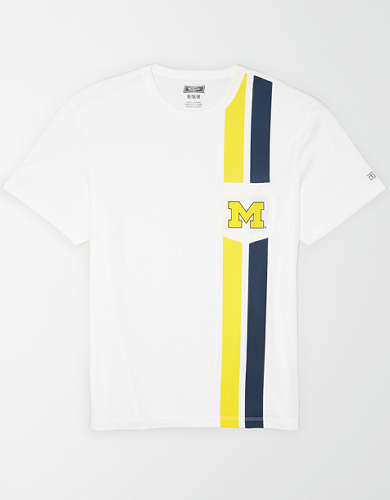 Tailgate Men's Michigan Wolverines Pocket T-Shirt