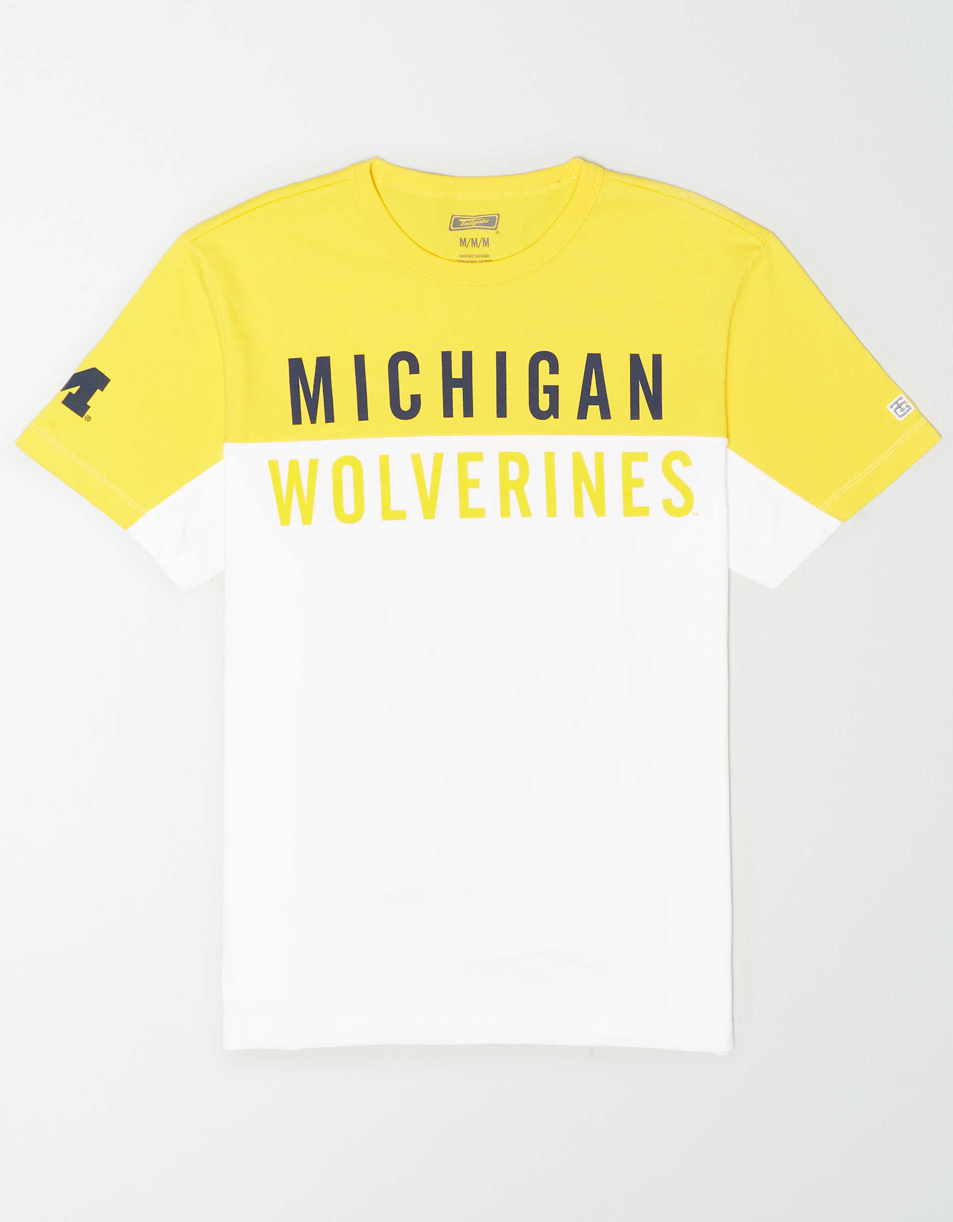 Tailgate Men's Michigan Wolverines Colorblock T-Shirt