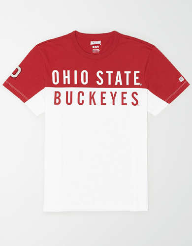 Tailgate Men's Ohio State Buckeyes Colorblock T-Shirt