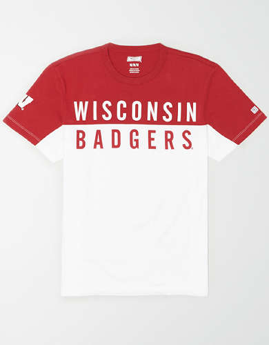 Tailgate Men's Wisconsin Badgers Colorblock T-Shirt