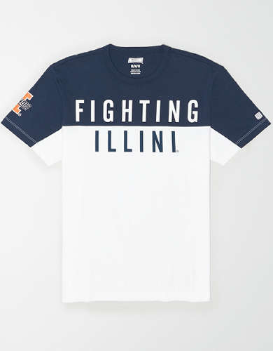 Tailgate Men's Illinois Fighting Illini Colorblock T-Shirt