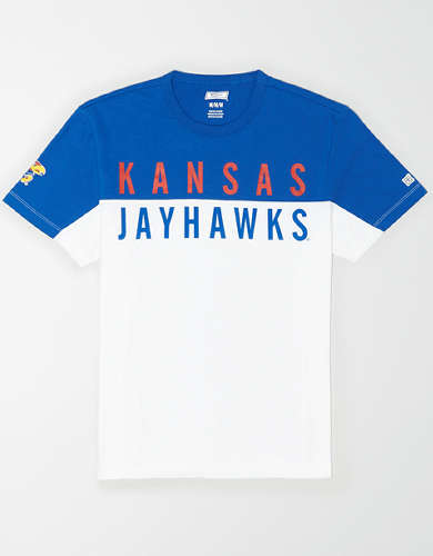 Tailgate Men's Kansas Jayhawks Colorblock T-Shirt