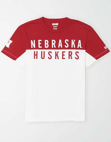 Tailgate Men's Nebraska Cornhuskers Colorblock T-Shirt