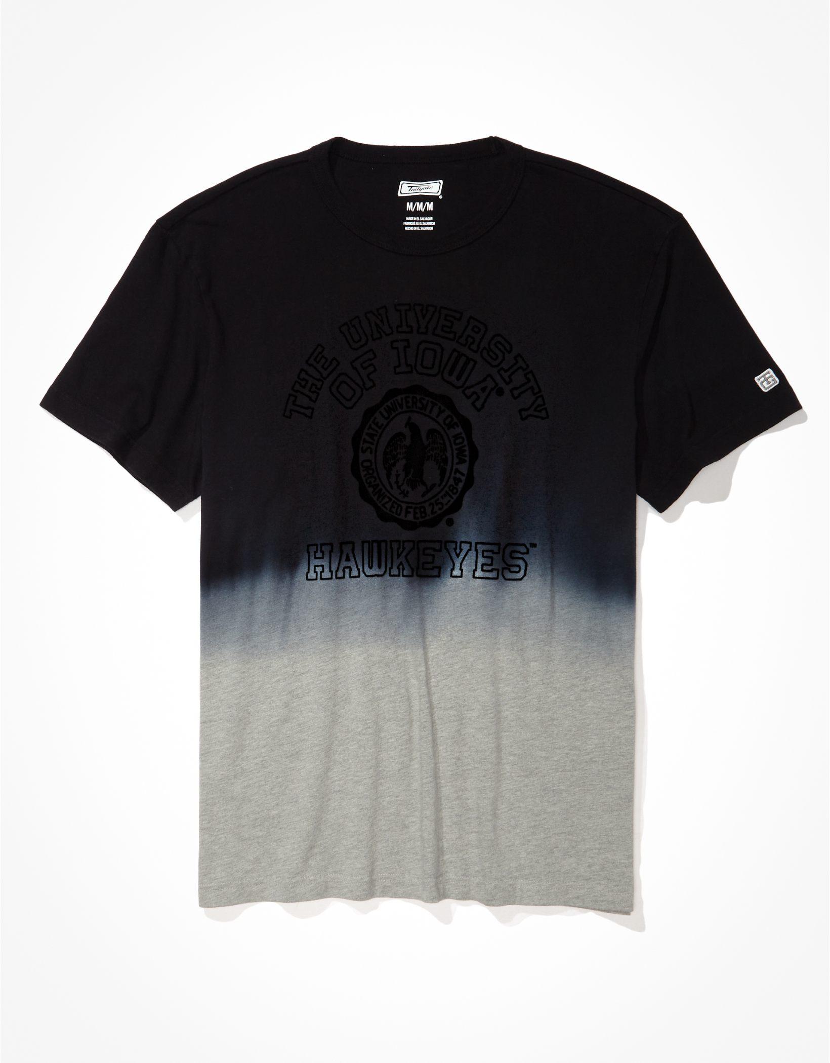 Tailgate Men's Iowa Hawkeyes Dip-Dye T-Shirt
