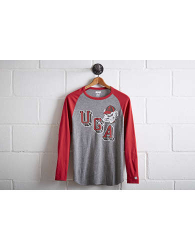 Tailgate Men's Georgia Bulldogs Baseball Shirt - Free Returns