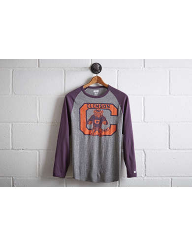 Tailgate Men's Clemson Tigers Baseball Shirt - Free Returns