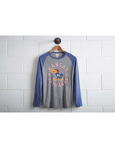Tailgate Men's Kansas Jayhawks Baseball Shirt -