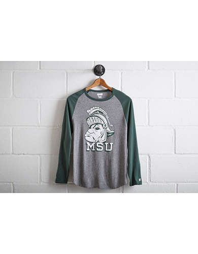 Tailgate Men's Michigan State Baseball Shirt - Free Shipping + Free Returns